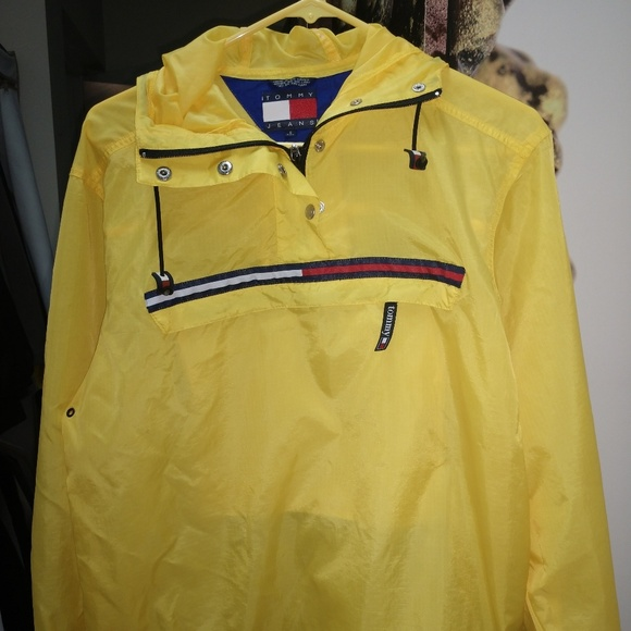 better price for uk cheap sale vivid and great in style Tommy Hilfiger Yellow windbreaker